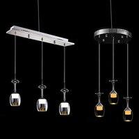 YAM European Style Modern LED Wine Glass Ceiling Light Lamp Fixture Lighting Chandelier 110 220V AC