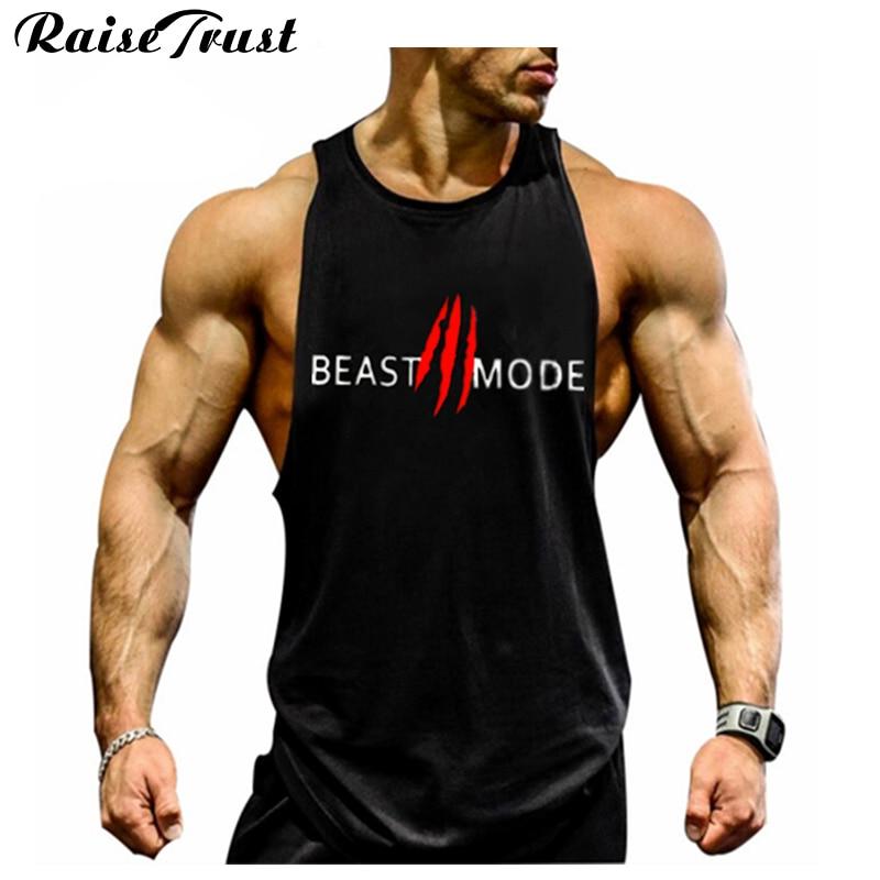 New 2019 fashion cotton sleeveless shirts   tank     top   men Fitness shirt mens singlet Bodybuilding Plus size gymvest fitness men