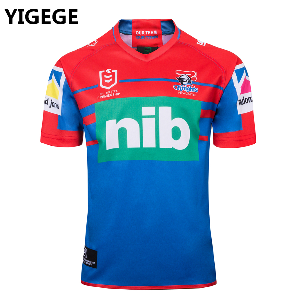 f36349b9e YIGEGE 2019 NEWCASTLE KNIGHTS home rugby Jerseys NRL National Rugby League  shirt nrl jersey Newcastle Knights
