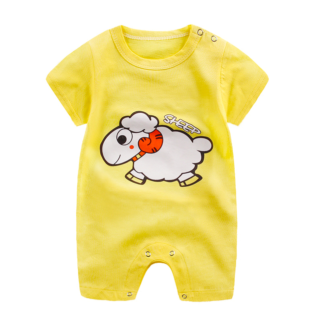 baby clothes 100% cotton short sleeve summer girls boys rompers toddler infant 0-18 months clothes 4