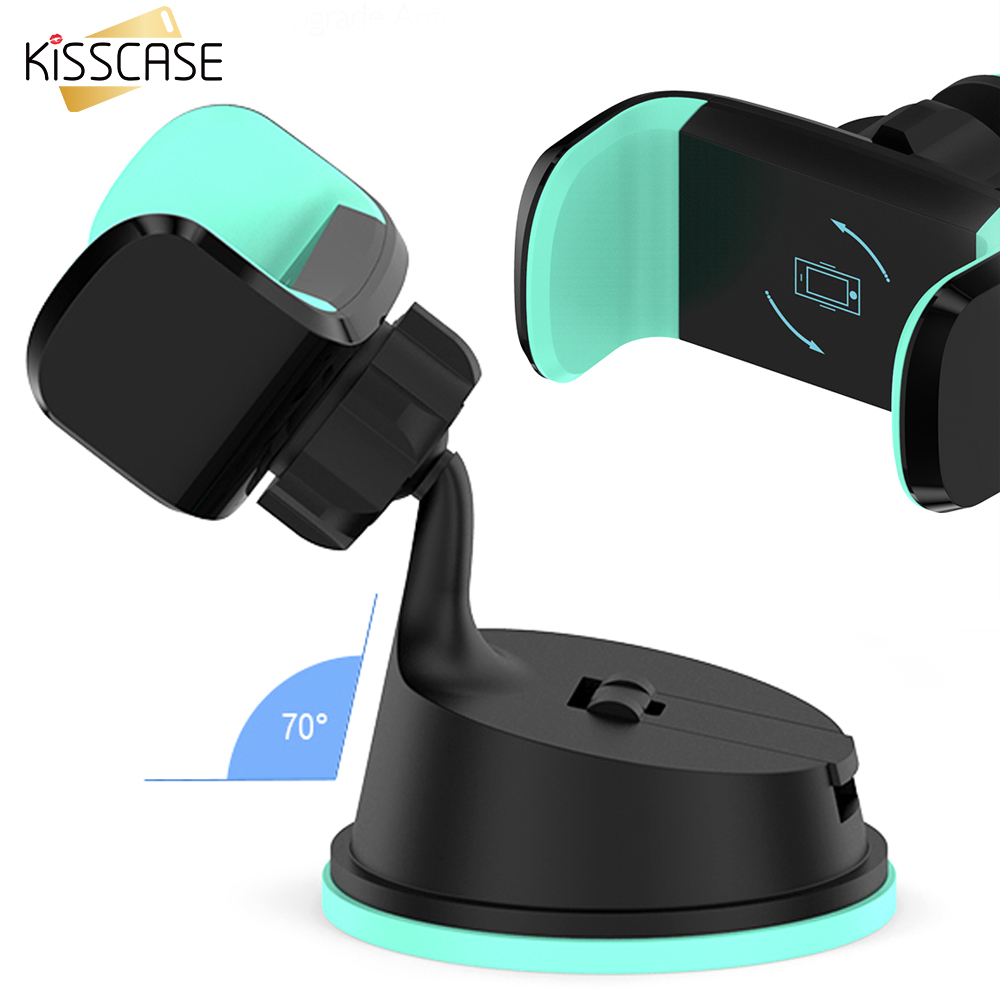 KISSCASE 2 in 1 360 Degree Adjustable Car Stand Holder Universal GPS Air Vent Mount Car Holder For For iPhone Xiaomi Smartphone