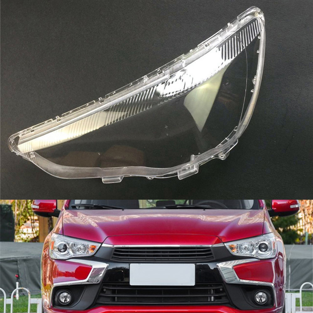 For Mitsubishi ASX Transparent Car Headlight Headlamp Clear Lens Auto Shell Cover