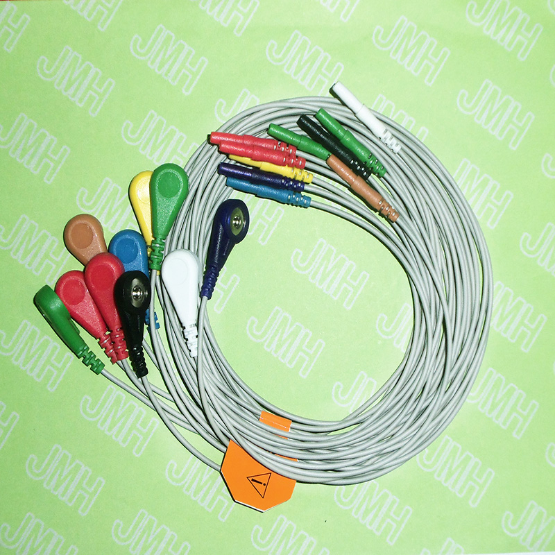 1.5 Din EKG/ECG Cable The Holter 10-Lead Snap Leadwires.