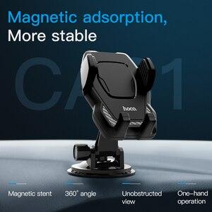 Image 2 - HOCO uchwyt samochodowy do montażu na szybie do Samsung S9 S8 Plus 360 obrót uchwyt samochodowy do iPhone XS 8 Huawei uchwyt stojak na telefon