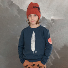 Europe and the United States foreign trade children 's clothing feather sweater winter thick pull hair child sweater.