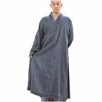 ZanYing серый для мужчин длинное платье традиционный буддийский медитации костюм священника ZYS261
