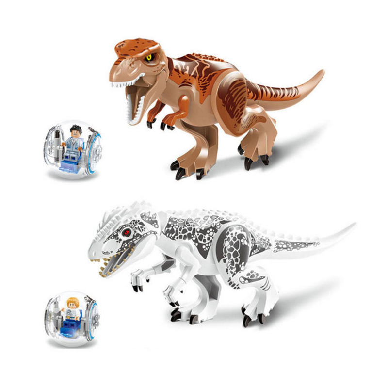 2 Pcs/set 79151 Jurassic World Dinosaur Bricks Marvel Building Blocks Toys Brick Figures Compatible Park with Dinosaurs 2 sets jurassic world tyrannosaurus building blocks jurrassic dinosaur figures bricks compatible legoinglys zoo toy for kids