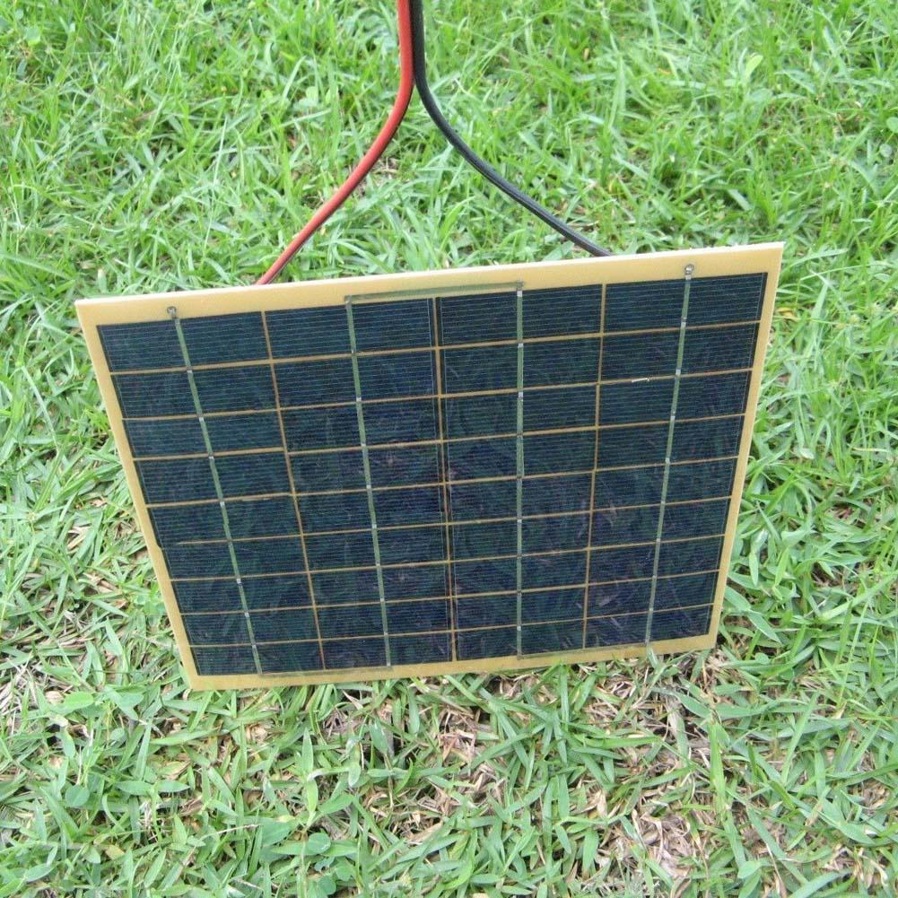 220x200mm 12V 5W Solar Panel Fit Car Battery Trickle Charger Backpack Power APE