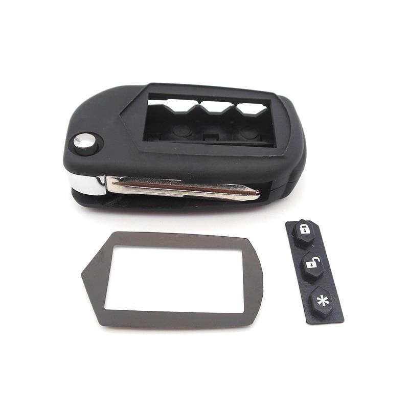 A91 Key Case Keychain for Starline A91 A61 B9 B6 uncut blade fob case cover A91 folding car flip Remote Control 1