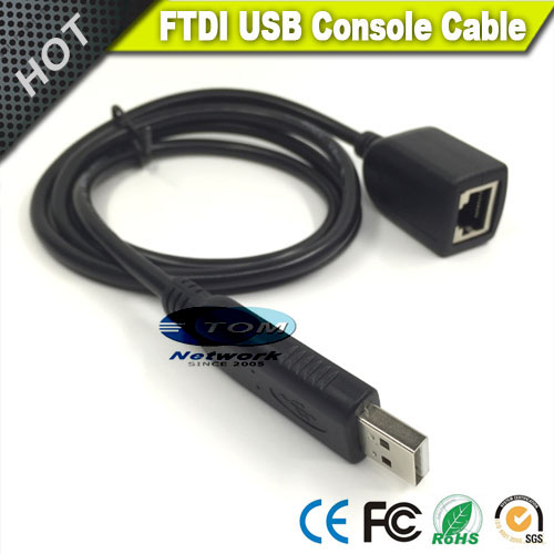 freeshipping new usb male to rj45 female console cable with ftdi chip in  black for cisco juniper router swtich-in computer cables & connectors from  computer