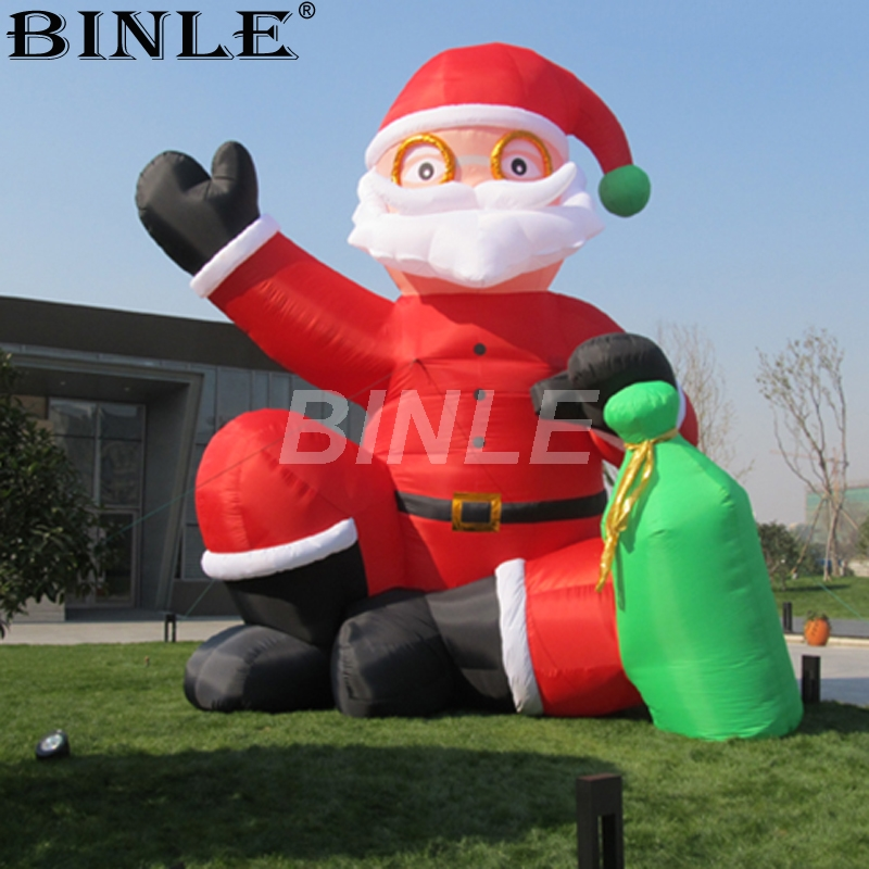 Inflatable Santa Claus Outdoor Christmas Decor Garden Home Yard