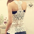2013 New Fashion Sexy Summer Women's Lace Hollow Out vest T shirts vest Singlets Lady Tank Tops Camis 3 Color For Selection