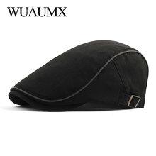 Wuaumx Spring Summer Berets Hat Men Breathable Newsboy Caps