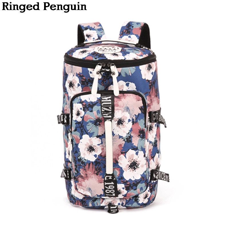 Ringed Penguin Trip Bag Waterproof Women Travel Bags for Female Large Capacity traveling Backpacks Ladies Shoulder Crossbody Bag