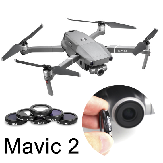 9a359ef3286 Lens Filter Combo for DJI Mavic 2 Zoom UV CPL ND4 ND8 ND16 for MAVIC 2  Polarizing Neutral Density Filter Camera Spare Parts