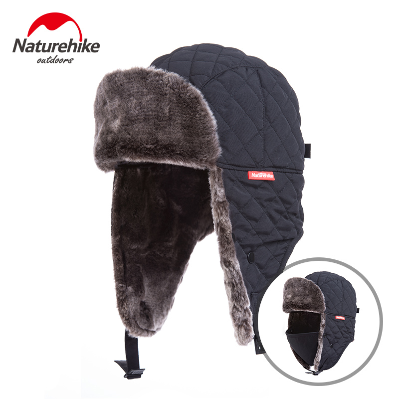 Naturehike Outdoor Windproof Winter Thermal Skiing Hats Lei Feng Hiking Russian Caps With Masks Bomber For