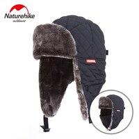 Naturehike Unisex Kış Trooper Trapper Şapka Avcılık Şapka Rus Kalpağı Kulak Flap ile Çene Kayışı Rüzgar Geçirmez Maske
