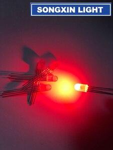 Image 2 - LED de 5mm RGB, 1000 Uds., cátodo común difuso, 4 pines, diodos emisores de tricolor RGB, 5MM, lámpara LED roja/verde/azul