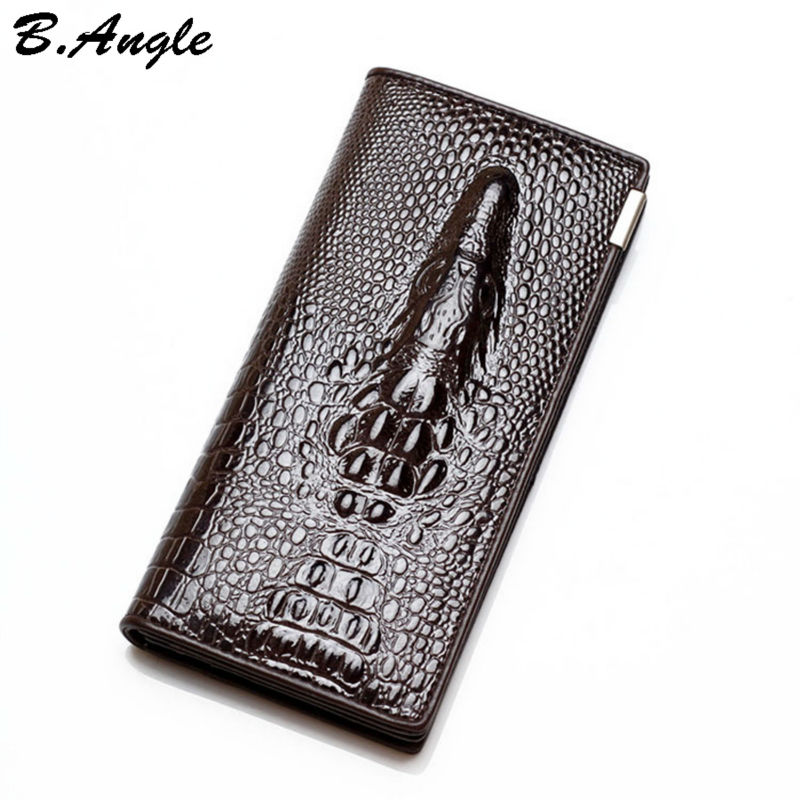 High-quality-genuine-leather-3D-Alligator-men-and-women-Wallet-Multifunctional-long-Design-Wallet-Zipper-Coin