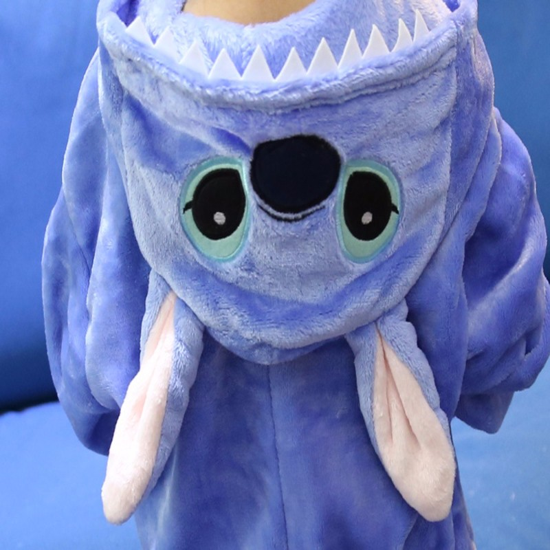 New-Year-Lilo-Stitch-Children-s-Cartoon-Animal-pajamas-Flannel-for-Boys-Girls-pijama-Onesie-Pyjamas