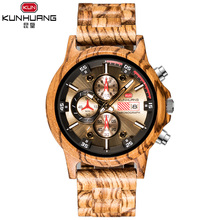 Wooden Watch Men Sport Wooden Quartz Watches Unique Design C
