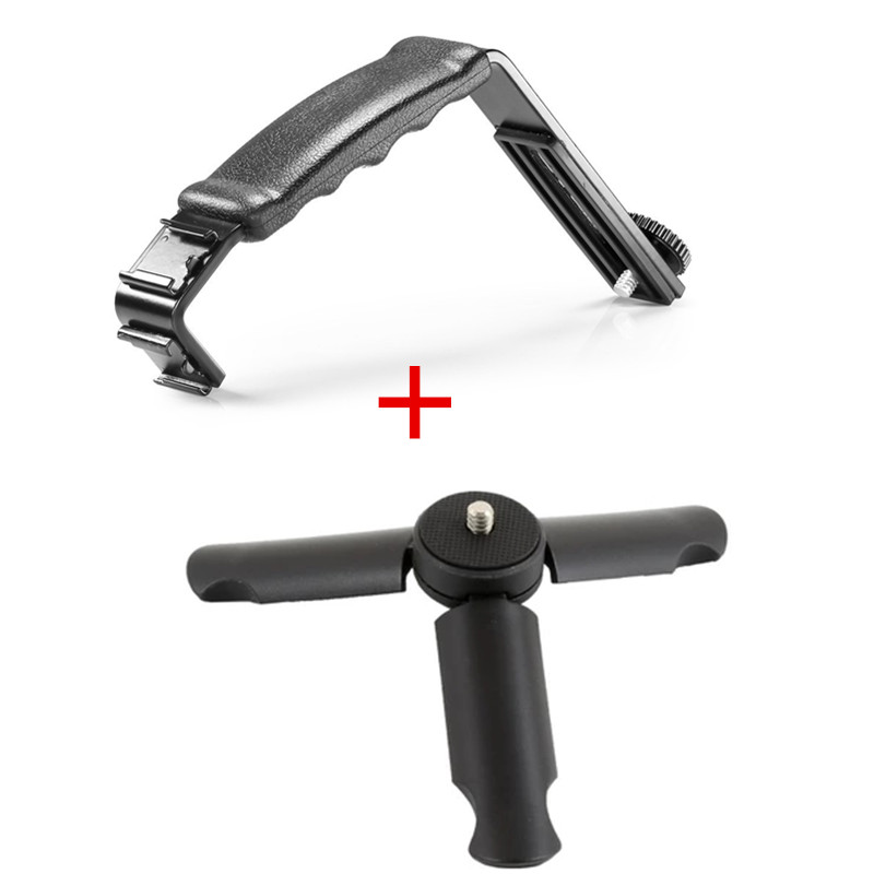 Lekai Protective Case for Sports Camera Dual Handheld Grip Aluminum Tube Stabilizer