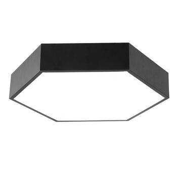 Nowoczesne Proste Led Akrylowe Lampy Sufitowe Geometria Sześciokąt Biały/czarny Kolor Do Salonu Sypialnia Lampa Domowa żyrandol