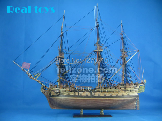 1/72 UK H.M.S Bellona clássico modelo de barco de madeira kit