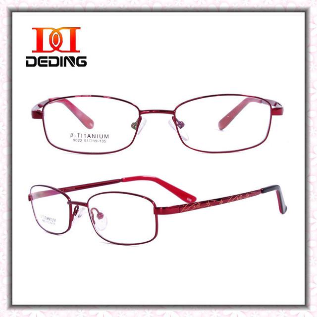 Женщин титановая оправа очки в элегантный полный кадр очки оптический близорукость очки Armacao де óculos де грау Feminino DD0738