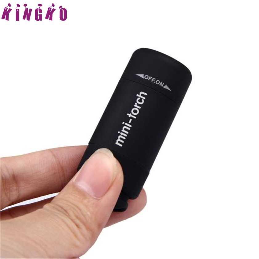 P Yüksek Kaliteli Mini Torch 0.3W 25Lum USB şarj edilebilir led lamba Torch Lambası El Feneri Anahtarlık