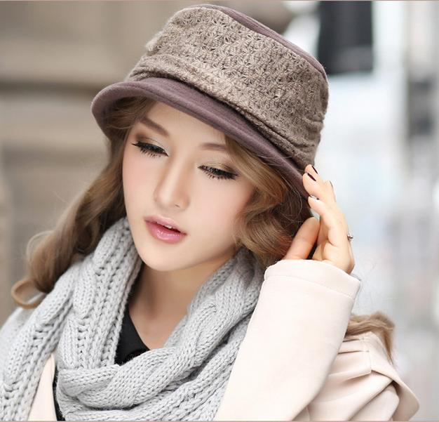 Skullies & Beanies woolen hat autumn winter new European fashion flat cap 92920 skullies