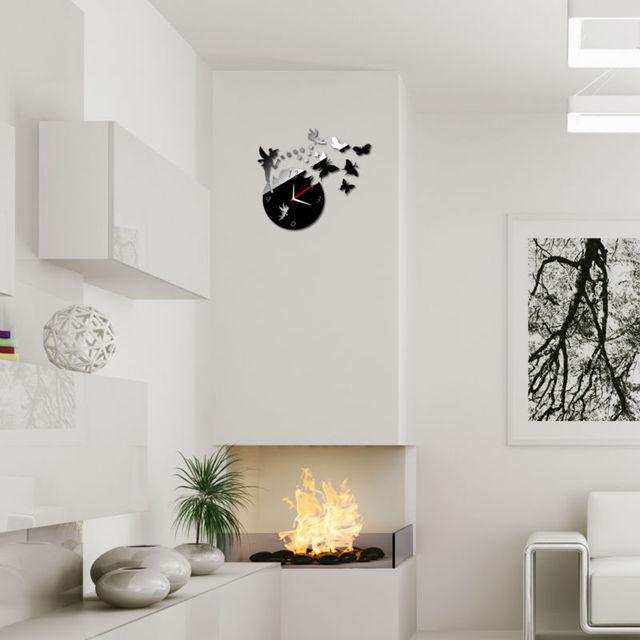 moderne wohnzimmeruhr, diy wanduhren uhren auf wand home moderne dekoration spiegel, Design ideen