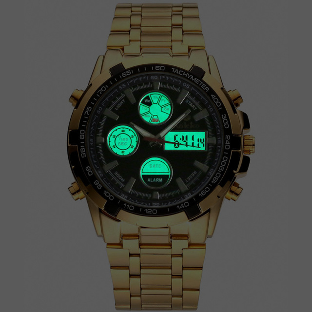Waterproof Gold Stainless Watch 8