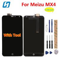 Hacrin Voor Meizu MX4 Lcd-scherm + Touchscreen Nieuwe Aangekomen Digitizer Glass Panel Vervanging Voor Meizu MX4 MX 4 1920*1152 5.36''