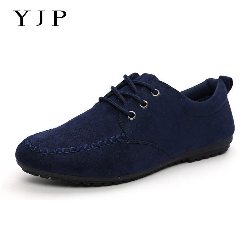 YJP 2017 Peso Ligero Zapatos de Gamuza, ocasional Con Cordones Mocasines, negro/