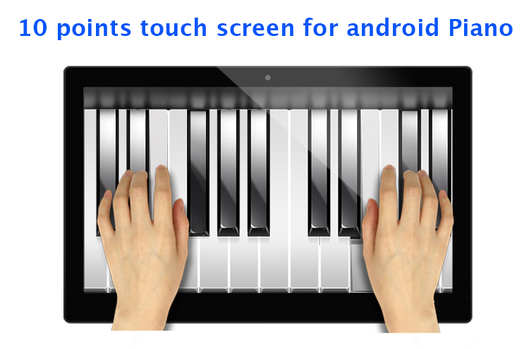 15.6 inch android all-in-one pc piano