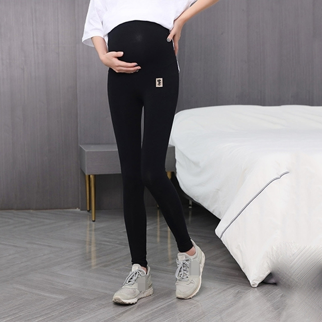 Moda Skinny maternidad Legging cintura alta vientre pantalones de punto ropa para mujeres embarazadas embarazo