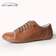 Men casual shoes men's genuine leather flat sneakers luxury brand flats shoes lace up loafers moccasins men footwear