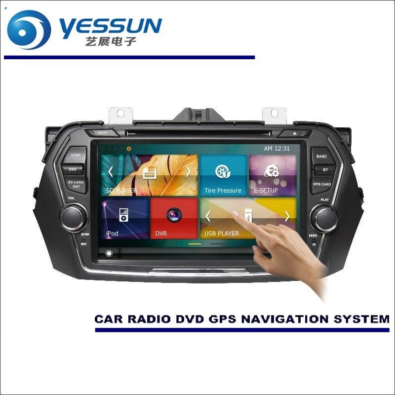 Yessun для Suzuki ALIVIO/ciaz 2014 ~ 2016 Радио CD dvd-плеер HD ТВ Экран GPS nav Navi навигация Аудио Видео Системы