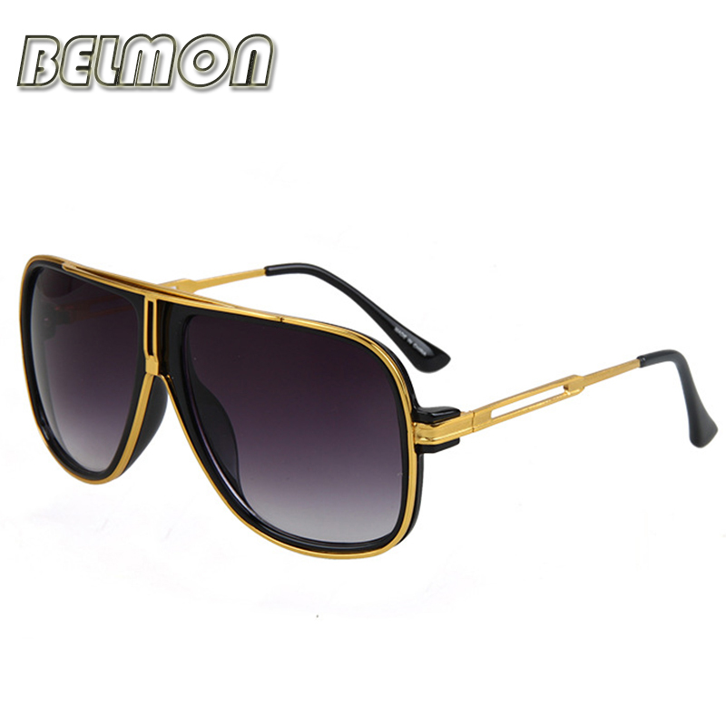 Fashion Sunglasses Men Women 2018 Luxury Brand Designer Sun Glasses Ladies Oversized Oculos UV400 Gradient For Female RS168