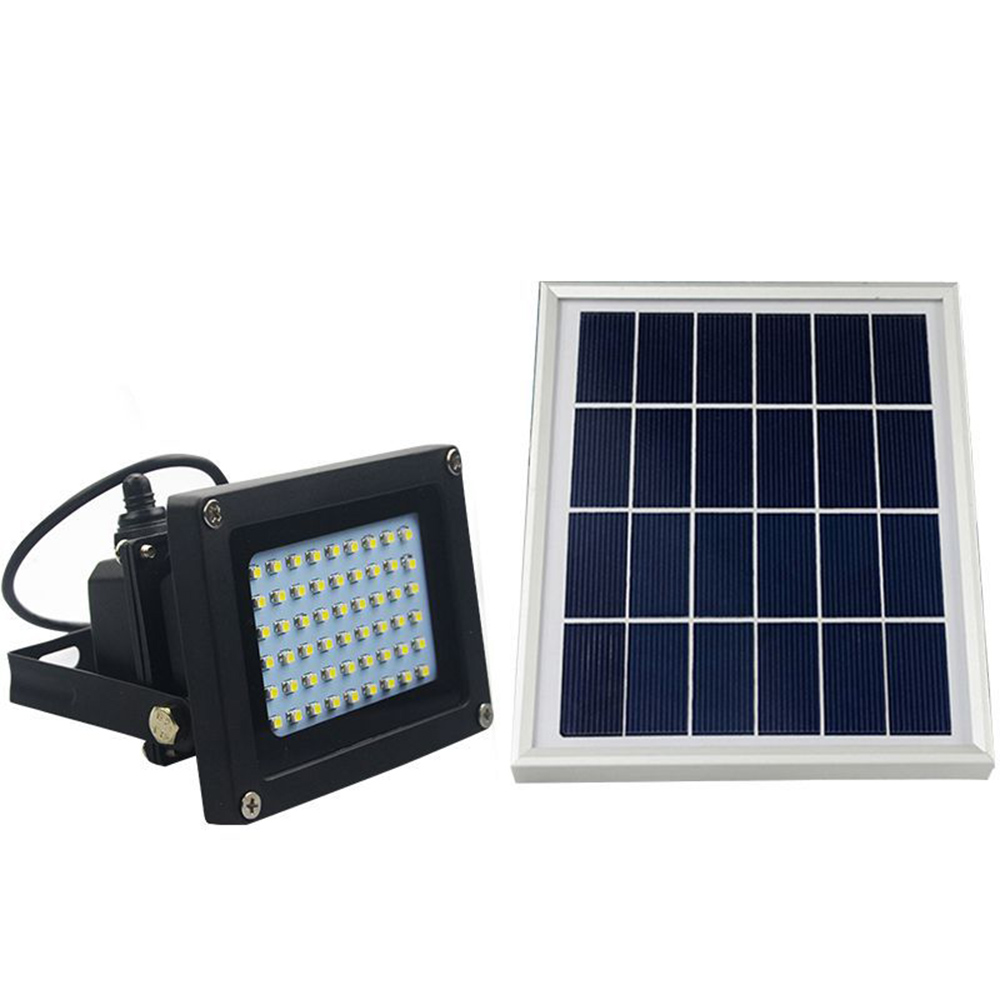 54Led Solar Powered LED Flood Light 6W Outdoor Lamp Waterproof IP65 ...
