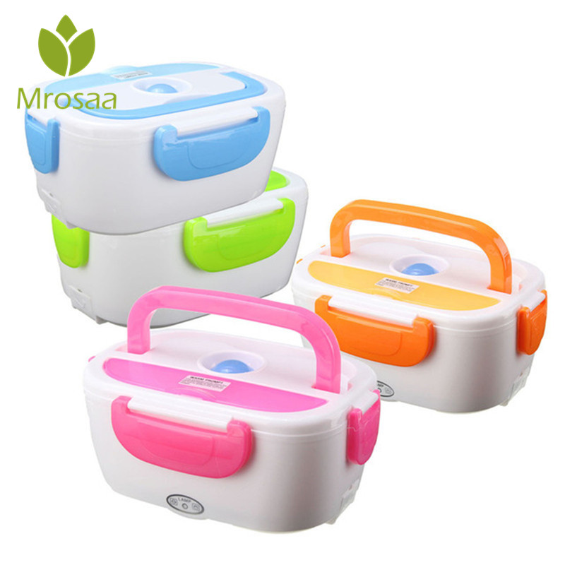 1.05L 12V Electric Heated Car Plug Heating Bento Lunch Box Set Outdoor Picnic Food Warmer Container With Scoop Travel Gift
