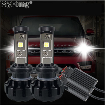 LED Car Turbo Headlight Kit Canbus H7 80W 8000LM Super Bright Replace Bulb Anti-Dazzle Beam No Error Warning Car Styling