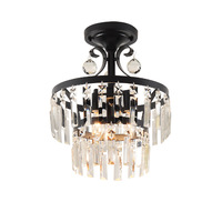 DX современные светодиодные светильники потолочные кристалл светильник Освещение в гостиную железа лампы Роскошные светильник белый теплы