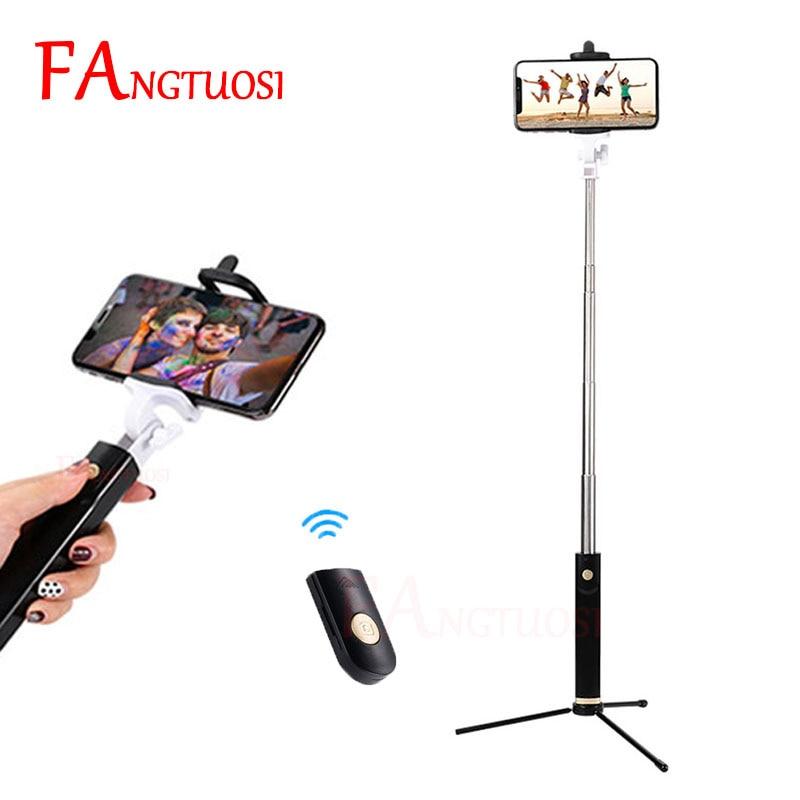 FANGTUOSI De Poche Bluetooth Selfie Bâton Extensible Portable Sans Fil Déclencheur À Distance Monopode Pour iPhone 7 6 s 8 plus Mini Trépied