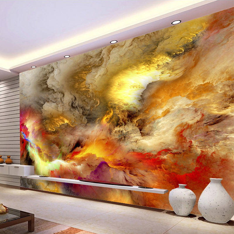 Modern Abstract Art Wallpaper 3D Colorful Clouds Photo Mural Wall Paintings Gallery Restaurant Cafe KTV Bar Creative Home Decor