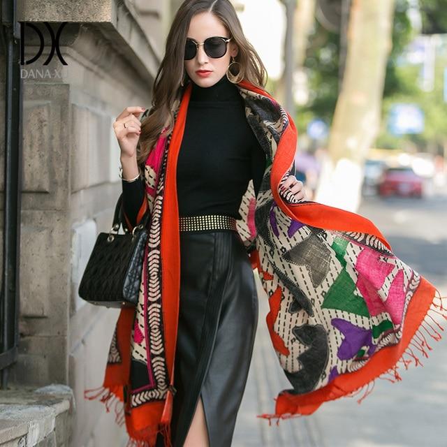 Large Scarf Luxury Brand Fashion Scarves and Shawls Wool Wrap Muslim Hijab Poncho Plaid Blanket Scarf India Bandana Face Shield