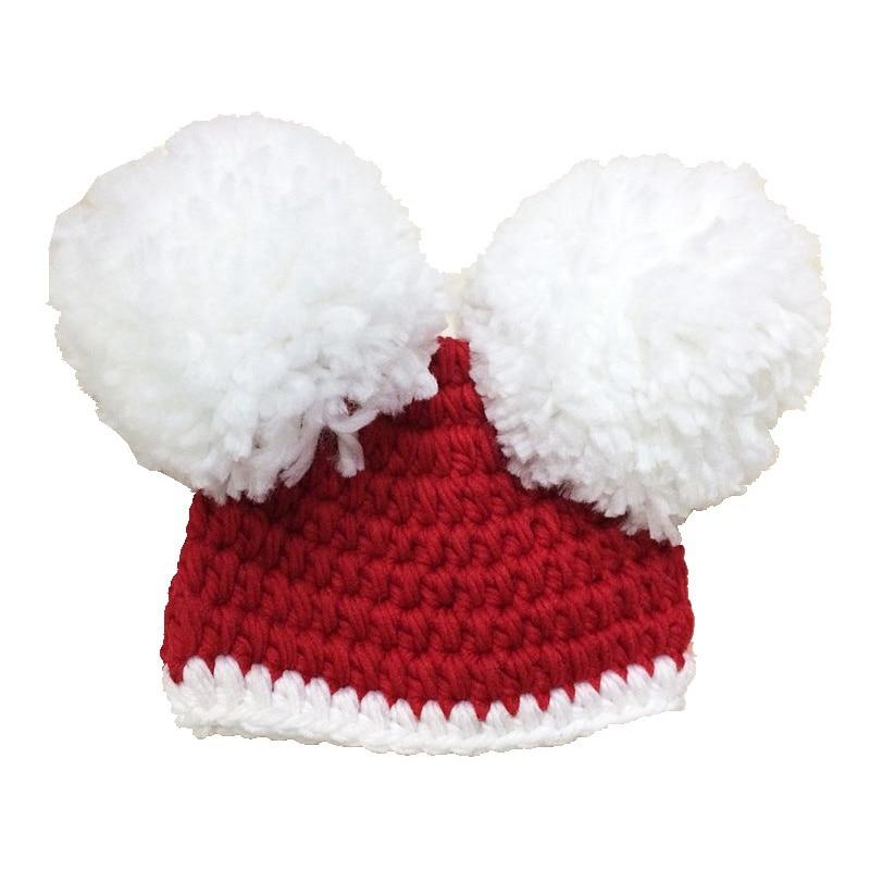 Rojo ganchillo bebé sombrero trajes de Navidad para las niñas ...