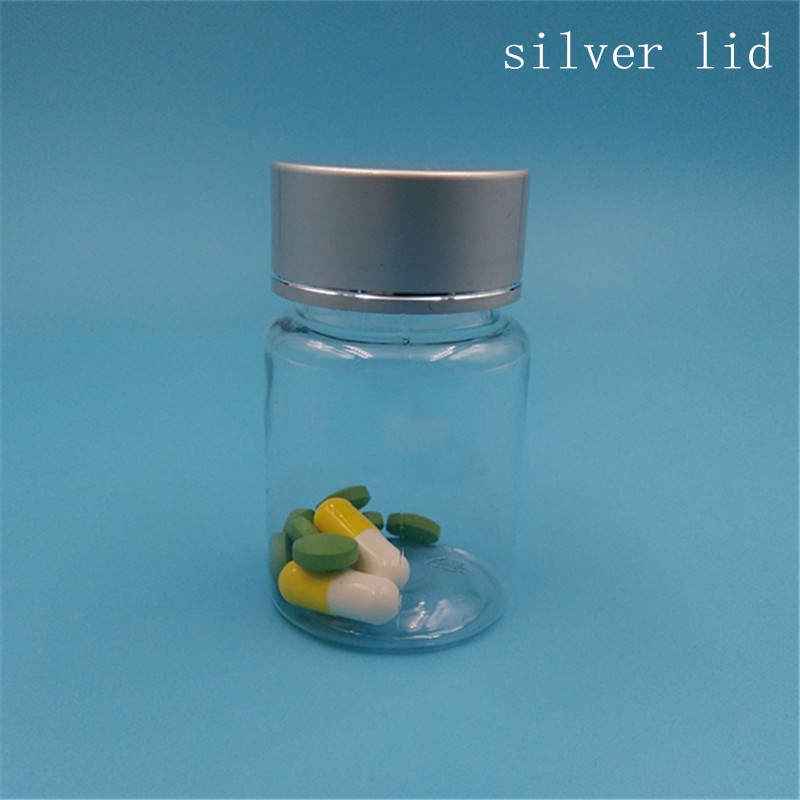 Free Shipping 15 g 20 30 ml Empty Pill Plastic Square Pack bottles Top Grade silver