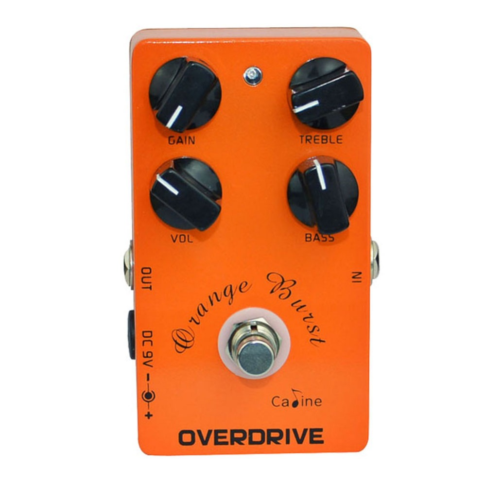 High Quality Caline CP-18 OD Orange Burst Guitar Effect Pedals Overdrive Effect Pedal Pre AMP Guitar Pedal True Bypass Design overdrive guitar effect pedal true bypass with 1590b green case electric guitar stompbox pedals od1 kits